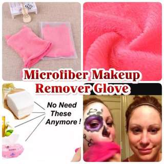 Cat Ears Microfiber Makeup Remover Gloves Brand New