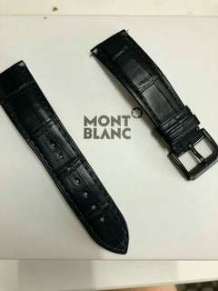 Montblanc Mont Blanc Alligator Navy Blue 22mm 真 鱷魚皮 錶帶