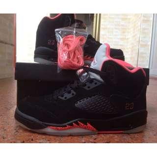 喬5 黑粉完美版 女鞋 US5---US8