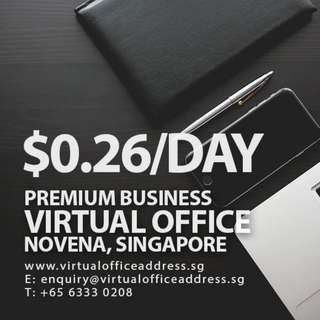 SGD0.26/Day Virtual Office @ Novena Singapore Mail Forwarding, Business Registered Address Services