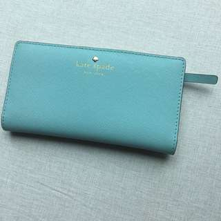 Kate Spade light blue Wallet 長銀包