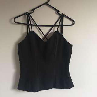 Strappy Black Singlet Top