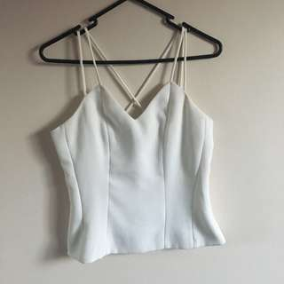 Strappy White Singlet Top