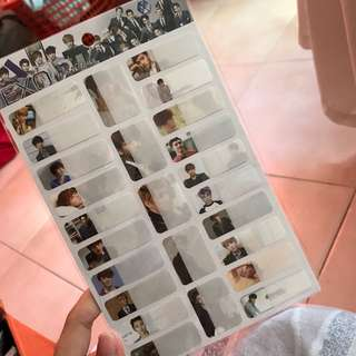 Exo name sticker
