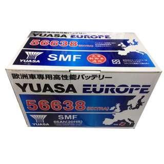 (請先詢價) 湯淺 YUASA 56638 歐規 汽車電池