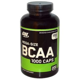 SALE IN STOCK Optimum Nutrition, BCAA 1000 Caps, Mega-Size, 1,000 mg, 200 Capsules