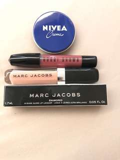 NEW liquid lip bobbi brown, lip gloss marc jacob & nivea creme