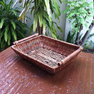 Rattan tray.  In good condition.