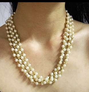 Celebration Pearls Necklace and Bracelet and Moonstone Earrings