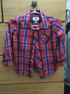 Old navy kids long sleeve polo