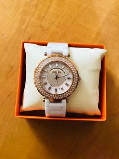 Folli Follie女裝白色搪瓷手錶