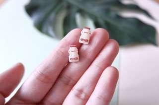 Yakult Japanese Yogurt Handmade Earrings