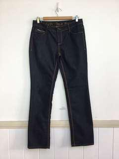 New Esprit Au Size 12 Mid Rise Slim Fit Stretch Black Cotton Jeans