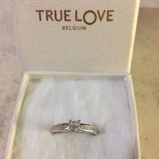 true love belguim diamond ring