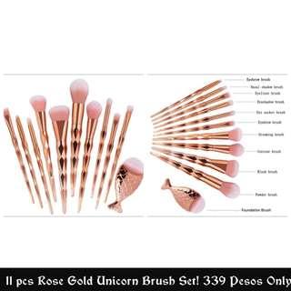 Unicorn 11pcs. Makeup brush