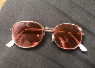 Sunnies Rose Gold Sunglasses