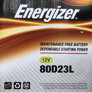 (請先詢價) 勁量 Energizer 80D23L 80D23R 汽車電池 汽車電瓶