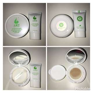WoWo Tea Polyphenols Beauty Skin CC Cream 15g + New Free Refill 15ml