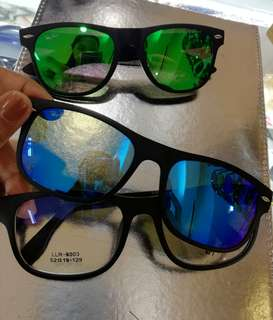 RAYBAN EYEGLASSES WITH CLIP ON