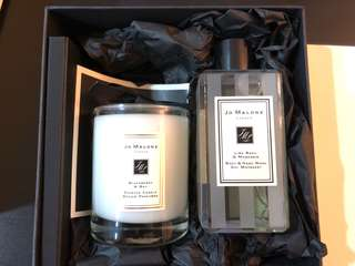 🚚 Brand New! Jo Malone Gift Set - Scented candle + Body & Hand wash Gel Moussant