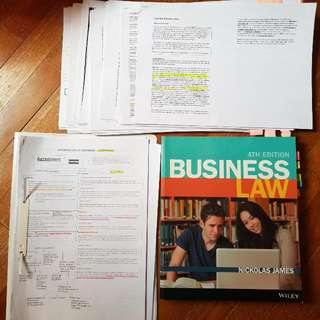 RMIT Commercial Law Textbook And Notes