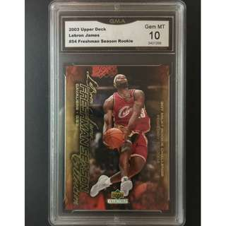 Lebron James Rookie Card 2003 Freshman Season Original Card