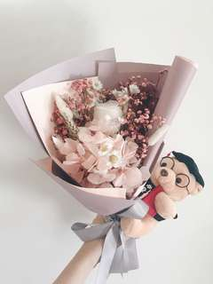 🚚 Graduation everlasting flower bouquet <Limited time only>
