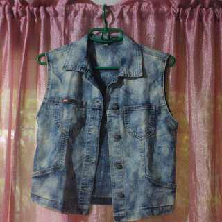 DIY Acid Washed Denim Vest (Repriced)