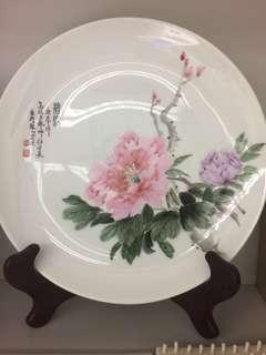景徳鎮高級工藝師江金承9 寸碟(花)