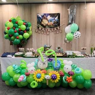 Tororo themed balloon decoration @zoeyhandiwork 🎈🎈