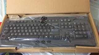 Lenovo keyboard & mouse 有線鍵盤和滑鼠