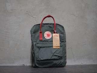 Fjallraven Kanken Bag Forest Green/Ox Red