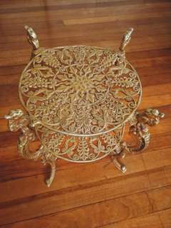 Baroque Metal End Table