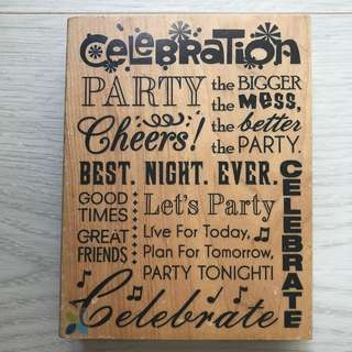 Artsy Rubber Stamp | Party-themed