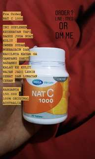MEGA WE CARE NAT C 1000 / SUPLEMEN VITAMIN C / 100% ORGINAL