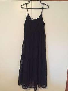 Summer or Winter black dress Dec Juba size M