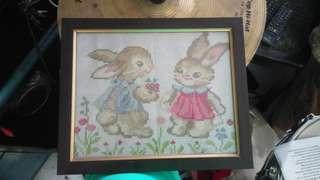 Cross stitch bunny