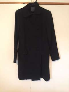KATE SYLVESTER designer black winter coat size 8