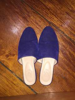 Used blue slip on