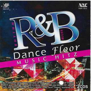 R & B Rhythm And Blues Dance Floor Music Hitz 2CD
