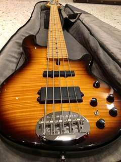 Lakland Skyline 55-02 Deluxe limited edition flame top bass guitar