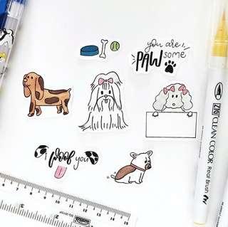 D002 Cat and Dog Sticker Flakes - Stickyrella