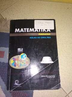 buku Matematika peminatan PKS kelas 12 / 3 SMA Kurikulum 2013