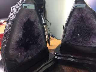 Brazilian Amethyst twin cave geode 巴西紫水晶山洞孪生一对🔮 Brazil 🇧🇷