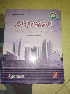 buku Sejarah Indonesia Quadra Kelas 12 / 3 SMA kurikulum 2013