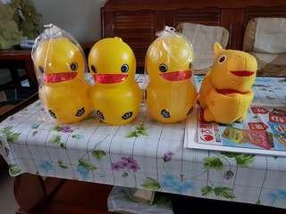 黃色小鴨存錢筒(四入)