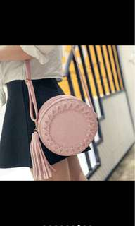Korean Bohemian retro tassel circle bag