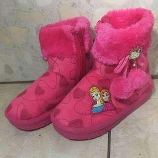 Winter boots frozen