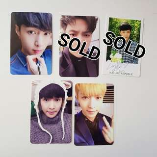 OFFICIAL EXO LAY PHOTOCARDS