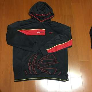 🚚 (Size 美版L) Nike 黑紅刷毛保暖帽T